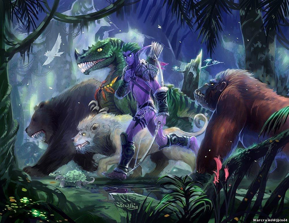 конце картинки ночных эльфов охотников крайне мало